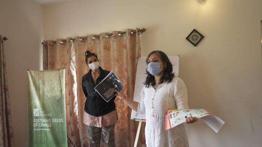 Aneeqa giving training on COVID-19 awareness in Hunza - Gilgit Baltistan