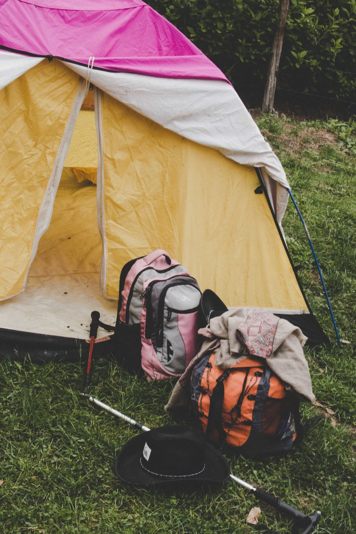 Camping on trekking trip to Dagri Forest