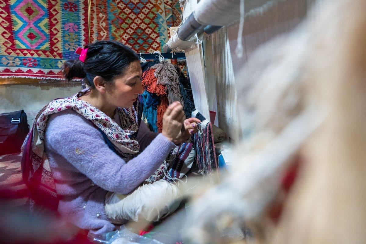 Female local artisan from Gulmit in Hunza Gilgit Baltistan 1