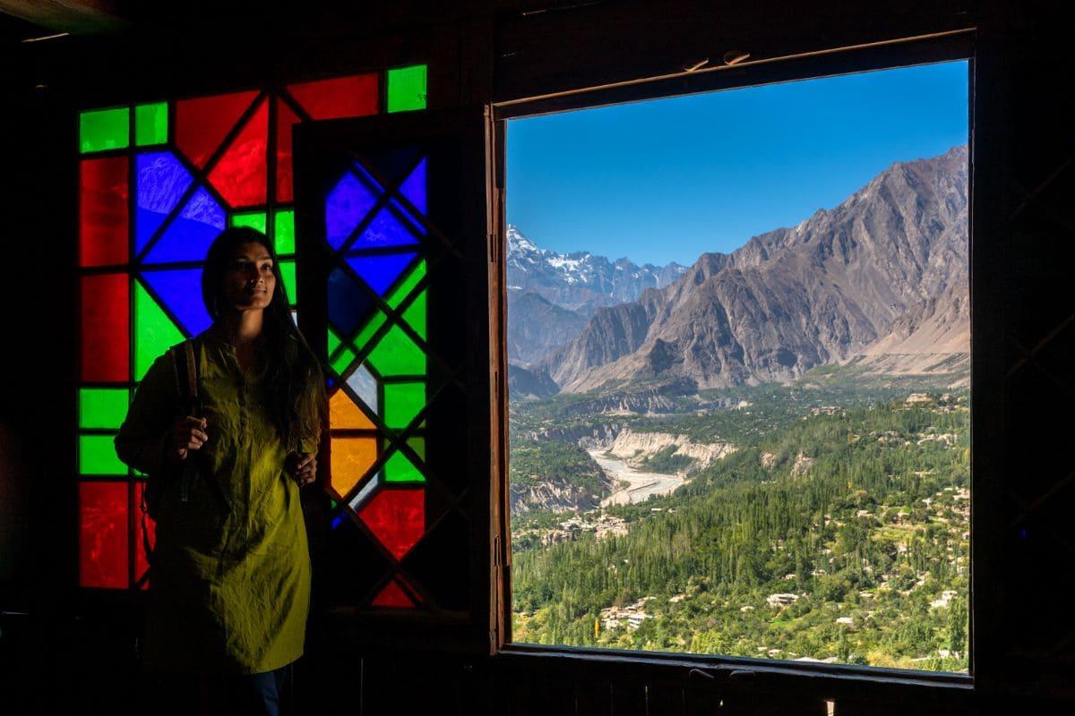 Female tourist in Hunza Gilgit Baltistan