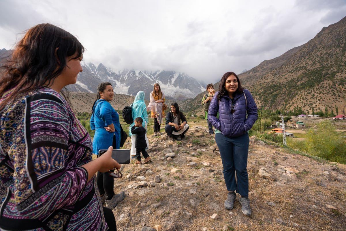 Female tourists in Astore Gilgit Baltistan