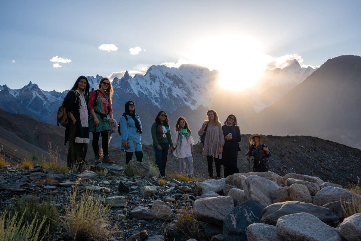 Female tourists in Hunza Gilgit Baltistan