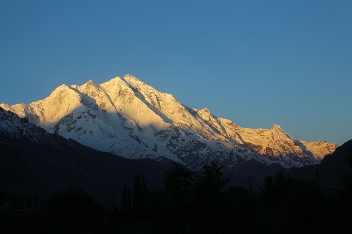Golden peak Hunza