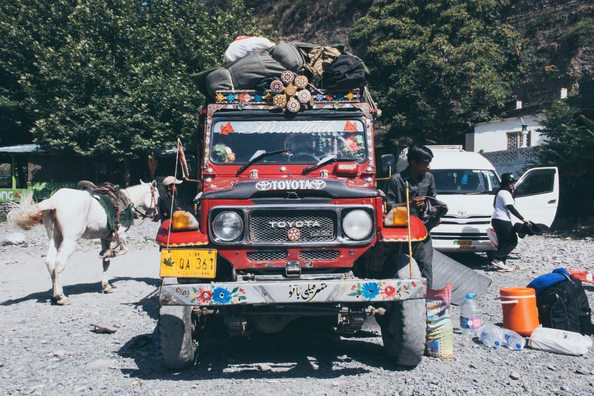 Jeep on trekking trip to Dagri Forest