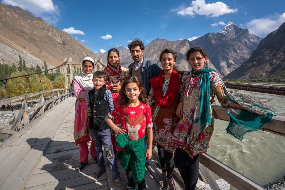 Local family from Ghizer Gilgit Baltistan