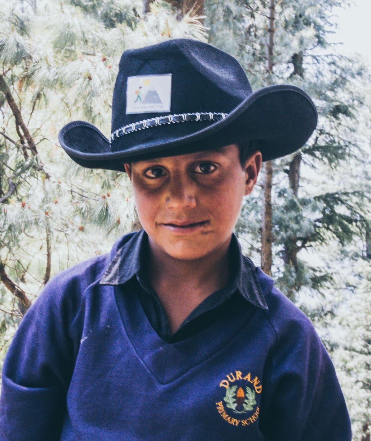 Local kid on trekking trip to Dagri Forest