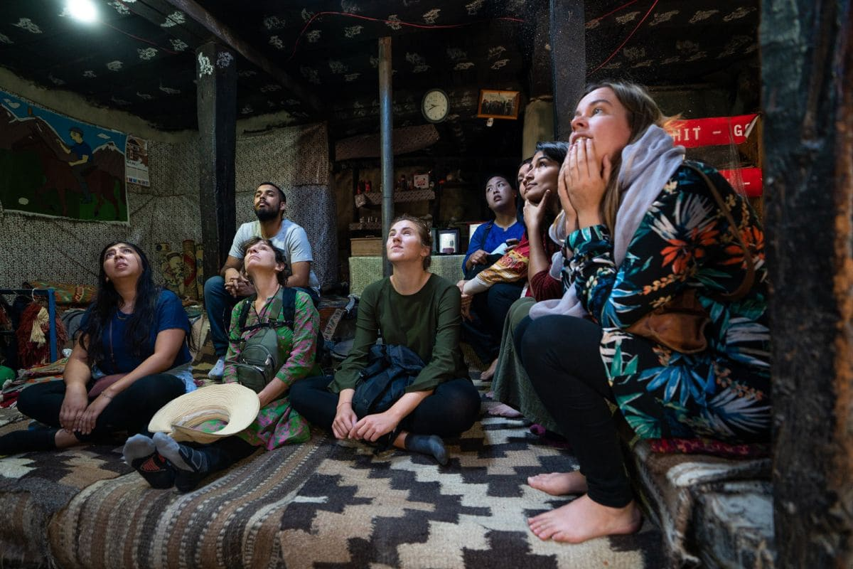 Tourists in a traditional home in Gulmit Hunza Gilgit Baltistan1