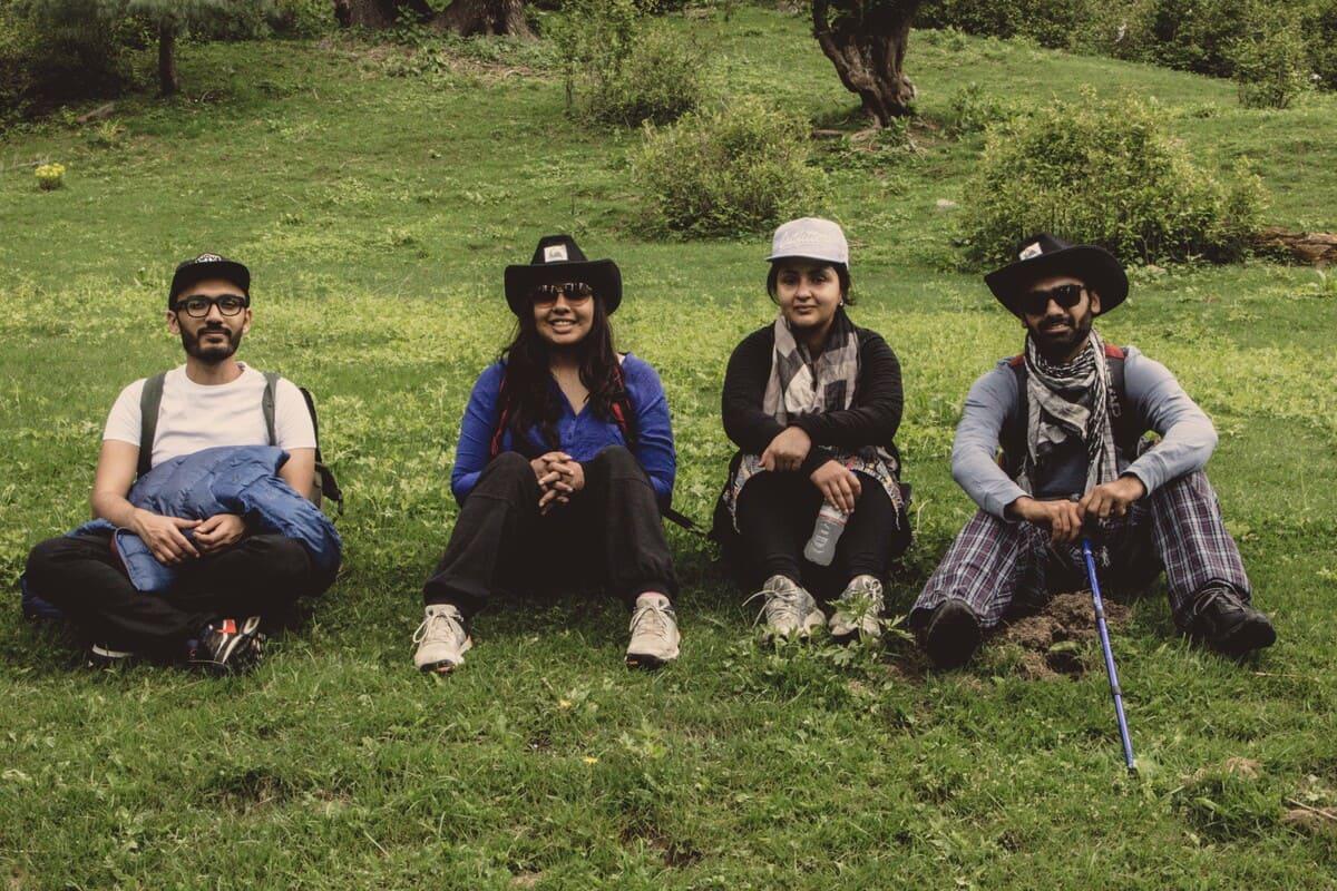 Tourists on trekking trip to Dagri Forest(1)